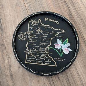 Vintage Minnesota State Map Tin Plate